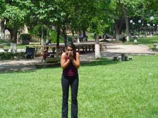 Clase en el parque Cuscatlán
